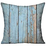 BZ04eng Old Barn Stripes Wood Wallpaper-Hypoallergenic Memory Foam Pillow with Washable Removable Cover