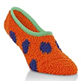Orange and Blue Footie Sock with Green Trim