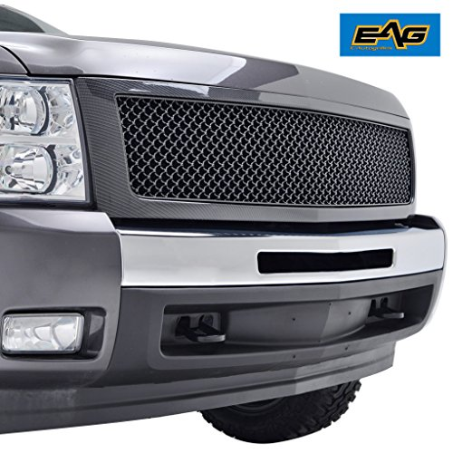 EAG Carbon Fiber Look ABS Replacement Mesh Grille Complete Replacement Carbon Fiber
