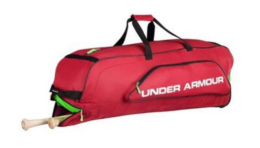 Under Armour UA Unisex Line Drive Roller Bag Baseball Red UASB-LDRB2 (Scarlet)