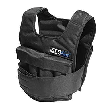 RUNFast Pro Weighted Vest 12lbs-60lbs (With Shoulder Pads, 40 LB)