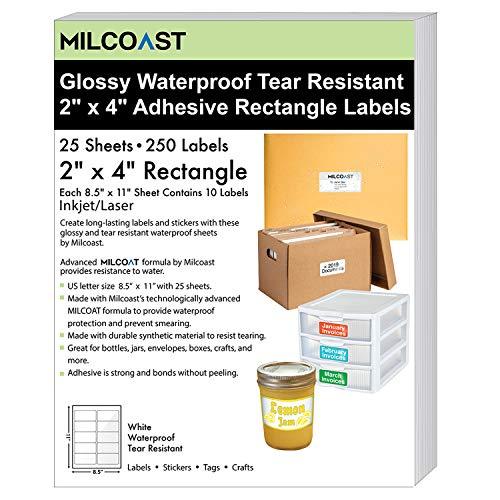 (Milcoast Glossy White Waterproof Tear Resistant Blank Adhesive 2