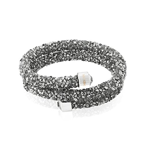 - Matashi Krysta Collection Wrap Around Bangle Bracelet Double Design with Glittery Beaded Crystal -