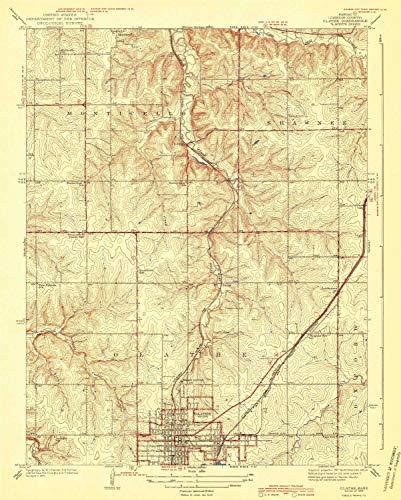 (YellowMaps Olathe KS topo map, 1:31680 Scale, 7.5 X 7.5 Minute, Historical, 1943, 19.74 x 15.83 in - Tyvek)