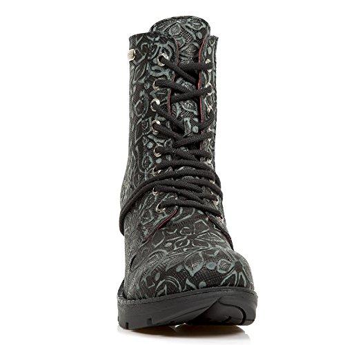 New Rock Zwart Leder M.tr060 R1 Sales Hel Trail Vrouwen