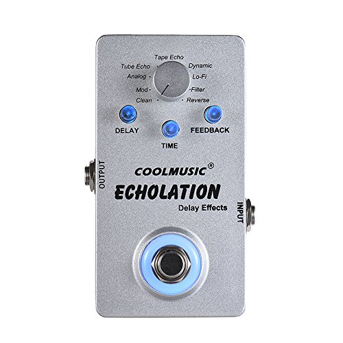 Coolmusic A-DE01 Digital Circuit Echolation Guitar Effects Pedal by Coolmusic