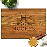 Froolu Cute Leaves Wood Personalised Cutting Board Wedding Couples Gift Deal (Small Image)