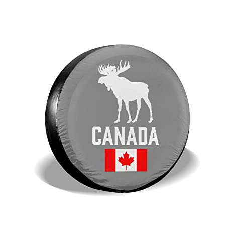 Tire Cover Free Moose Potable Polyester Universal Spare Wheel Tire Cover Wheel Covers SUV Truck Camper Travel Trailer Accessories