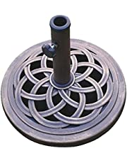 DC America UBP18181-BR 18-Inch Cast Stone Umbrella Base, Made from Rust Free Composite Materials, Bronze Powder Coated Finish