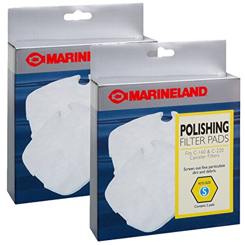 (Marineland Polishing Filter Pads for Canister Filters, 4-Count)