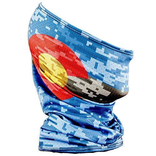 Wind Protection - Fishmasks Single Layer Neck Gaiter - Lightweight, Fishing Protection From Sun, Wind And Moisture - Made In USA - UPF 50+ Moisture-Wicking Fabric - Colorado Digi Camo