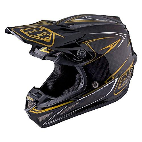 Carbon By Design (2017 Troy Lee Designs SE4 Carbon Pinstripe Helmet-Black-L)