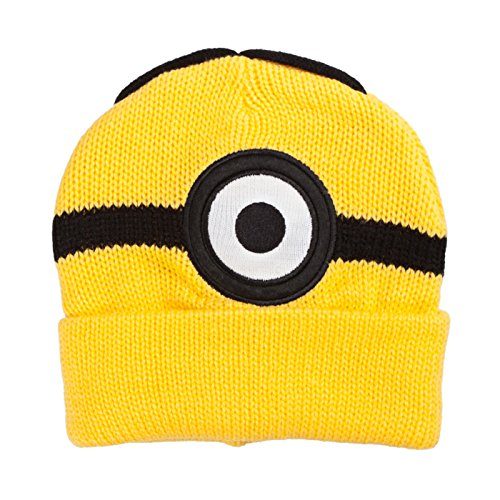 [Despicable Me Minions Steve One Eye Yellow Beanie] (Despicable Me Minion Hats)