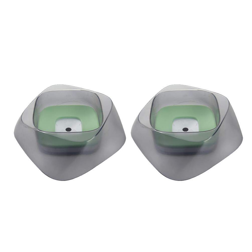 Balacoo 2PCS Dog Bowl Dog Water Bowl No-Spill Pet Water Bowl Slow Water Feeder Dispenser Feeder Bowl for Dogs and Cats by Balacoo