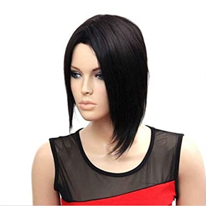 Babysbreath Pelucas de pelo corto de peluca negra peluca de encaje negro pelucas de pelo de