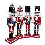 U-smile Christmas Decorations Nutcracker Puppet Soldiers Shape Ornaments 30CM Bar Window Desktop Decoration