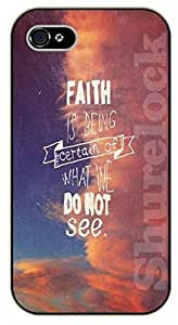 iphone 5c Bible Verse - Faith. Pink sky - black plastic case / Verses, Inspirational and Motivational