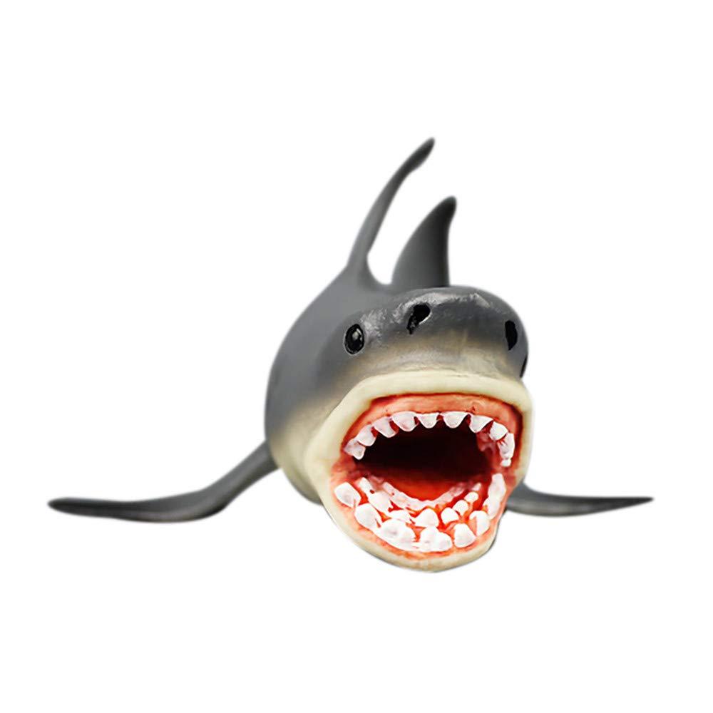 Pozostałe Hai 54cm Haifisch Großer Weißer Hai White Shark Kunststoff Spielfigur Fisch Deko Dekoracje marynistyczne