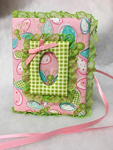 (Sweet Pea Butterfly Custom Photo Album for Baby Girl or Boy- Holds 100 4x6 Photos - Handmade)
