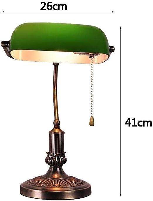 Lámpara de mesa retro, lámpara de banco, estilo banquero Base de ...