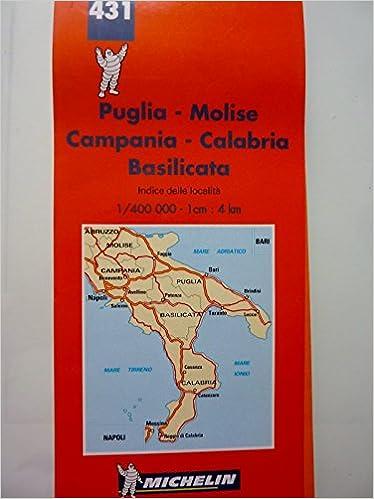 Cartina Stradale Puglia Michelin.Amazon It 431 Puglia Molise Campania Calabria Basilicata Carta Stradale E Turistica Aa Vv Libri