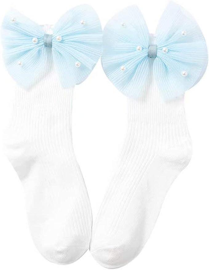 Vennisa Baby Girls Tutu Socks Princess Bowknot Sock Lace Ruffle Frilly Ankle Socks