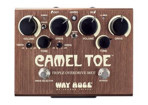 Way Huge Green (Way Huge WHE209 Camel Toe Triple Overdrive MKII Analog Guitar Effect Pedal + Cables)