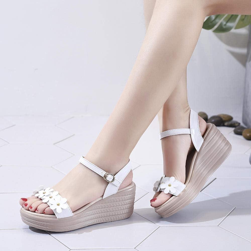 ZY&FC Wedge Sandals Chaussures décontractées d'été pour Womens White