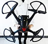 Night lions Tech (TM) 23.6inch 2016 Newest 5.8G Huge Big Size X161 Follower FPV Remote Control RC Quadcopter Drone with HD 2MP Camera Black New