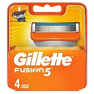 Gillette Fusion Lot de 5 lames de rechange pour homme, 4 pièces