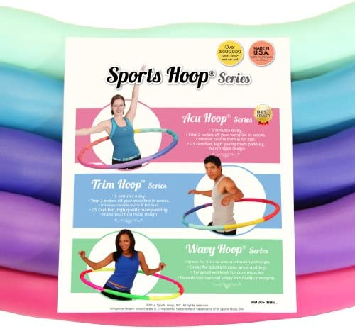 Sports Hoop Weighted Hoop, Weight Loss ACU Hoop 4M - 4lb (40 inches Wide) Medium, Weighted Fitness Exercise Hula Hoop 4