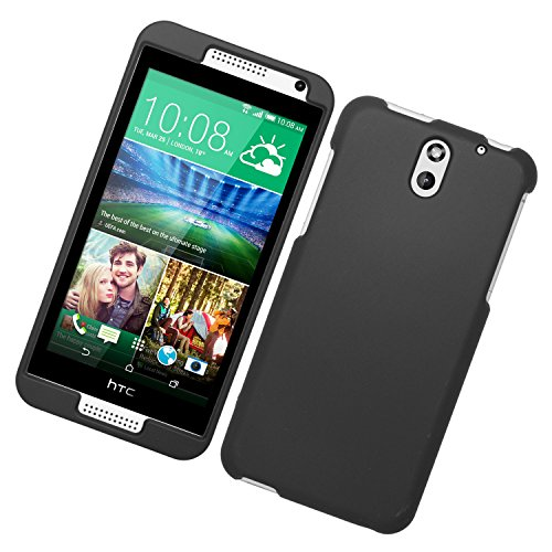 Eagle Cell Snap on Rubberized Hard Protector Case for HTC Desire 610 - Retail Packaging - Black