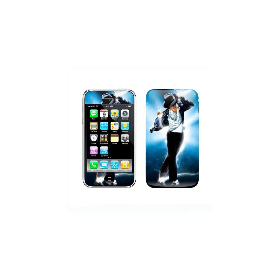 Meestick Michael Jackson Vinyl Adhesive Decal Skin for iPhone 3G