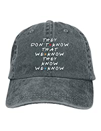 EHECD They Dont Know That We Know Denim Hats Washed Retro Baseball Cap Dad Hat