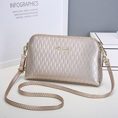 and Strap Strap Leather Wrist Handbag Shoulder Long Purse PU Ouvin with Women's Wallet Clutch Crossbody Champagne Women's Shoulder Wrist 4tq6xwZ
