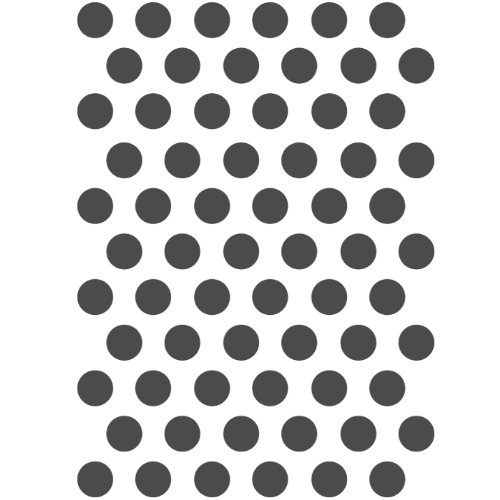 J BOUTIQUE STENCILS Dot Stencil Pattern - Medium Size - Reusable Stencil for Crafting Canvas Home DIY decor furniture Dot Canvas Rug