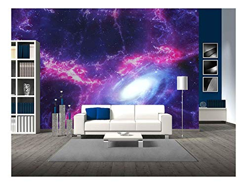 Space Background with Nebula and Galaxy