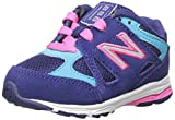 New Balance KJ888V1 Infant Running Shoe (Infant/Toddler), Blue/Pink, 1.5 XW UK