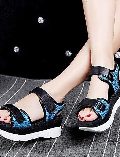 LFNLYX Zapatos de mujer-Tacón Plano-Cuñas / Comfort / Innovador / Botas a la Moda / Zapatos y Bolsos a Juego / Zapatillas-Sandalias / Planos / Green