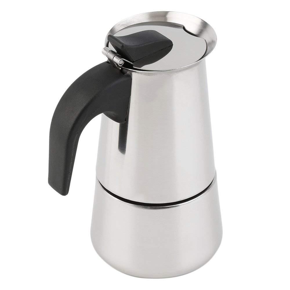 Acquisto RoadRoma Caffettiera per caffè a 4 Tazze Top a caffettiera Caffettiera Moka Espresso Latte – Argento Prezzi offerta