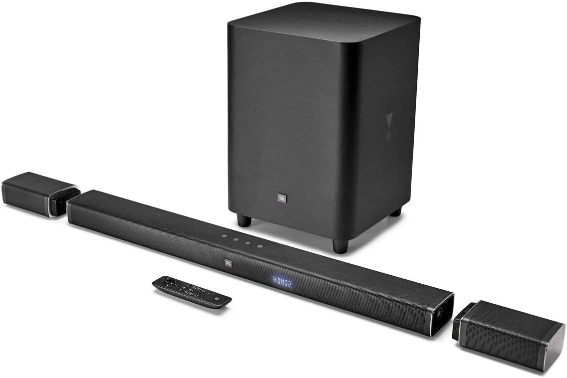 JBL Bar 5.1 4K Ultra HD 5.1-Channel Soundbar with True Wireless Surround Speakers (Renewed)