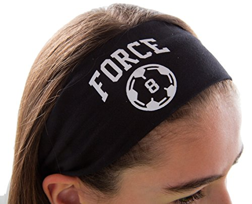 Design Your Own Soccer Ball (Design Your Own Personalized SOCCER Cotton Stretch Headband VARSITY FONT with CUSTOM NAME By Funny Girl)