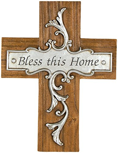 Carson Home Accents Bless This House Wall Cross, 10