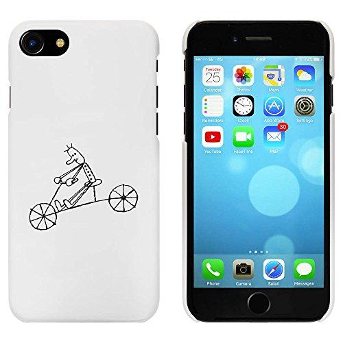 Blanc 'Homme sur Vélo' étui / housse pour iPhone 7 (MC00062326)