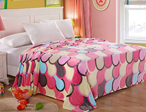 Bubble Cotton Bed (Bedding Extra Soft Coral Fleece Blanket Lightweight Thickening Throw/Bed Blanket Color Blanket Bubble Gum)