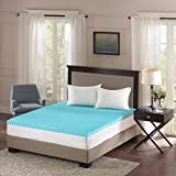 Full Size Egg Crate Mattress Pad Sleep Philosophy Flexapedic gel memory foam mattress protector cooling bed cover king blue