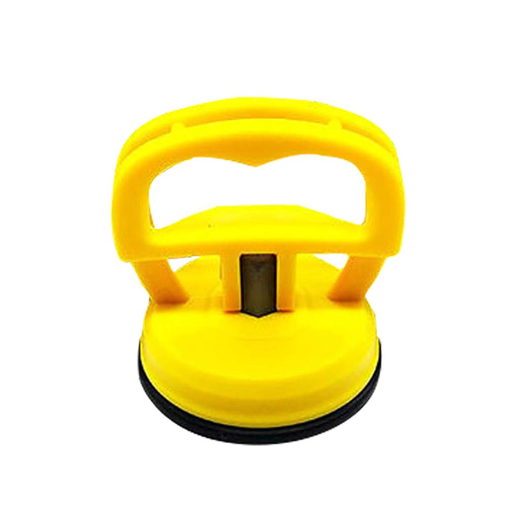 eroute66 Suction Cup Dent Puller Handle Lifter Dent Remover Heavy Duty Galss Lifting Yellow