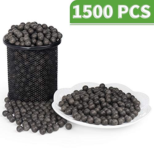 LuckIn Slingshot Ammo Ball, Slingshot Clay Ball 3/8 inch, Slingshot Clay Ammo Biodegradable, Soil Color, 1500 Pcs