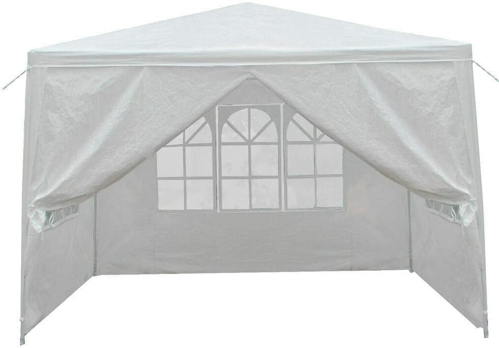 10'X10' Carport Garage Auto Shelter Canopy Party Tent Sidewall mit Windows White