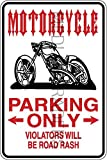 Novelty Parking Sign, Motorcycle Parking Only Aluminum Sign S8284